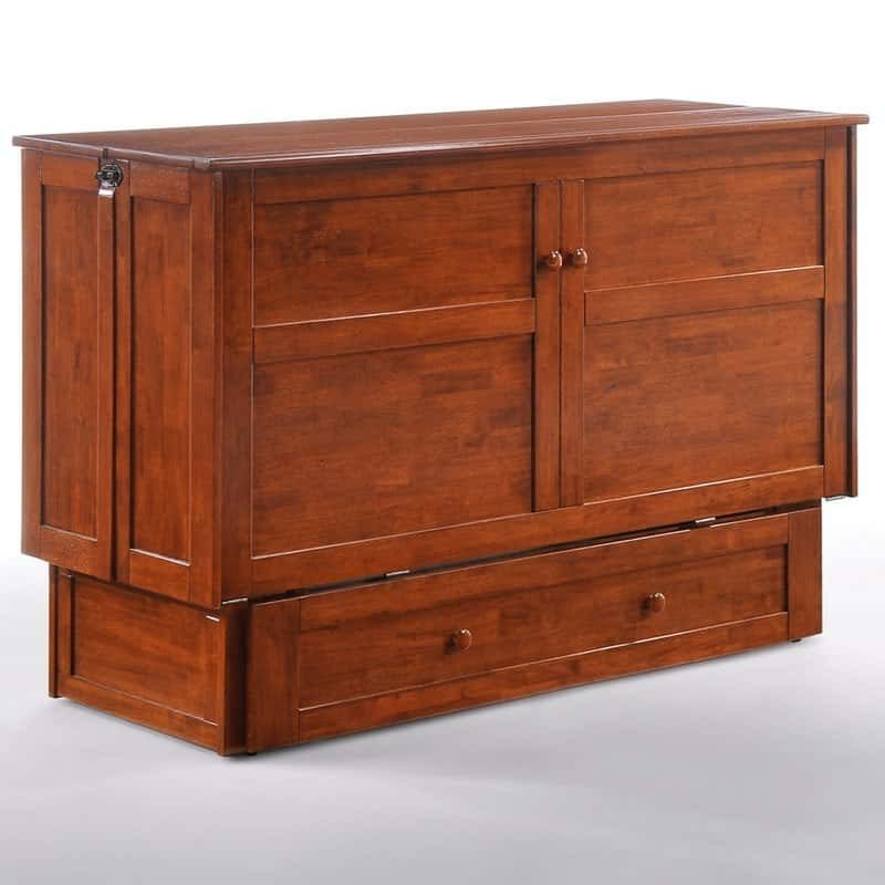 Clover Cabinet Bed Rich Cherry