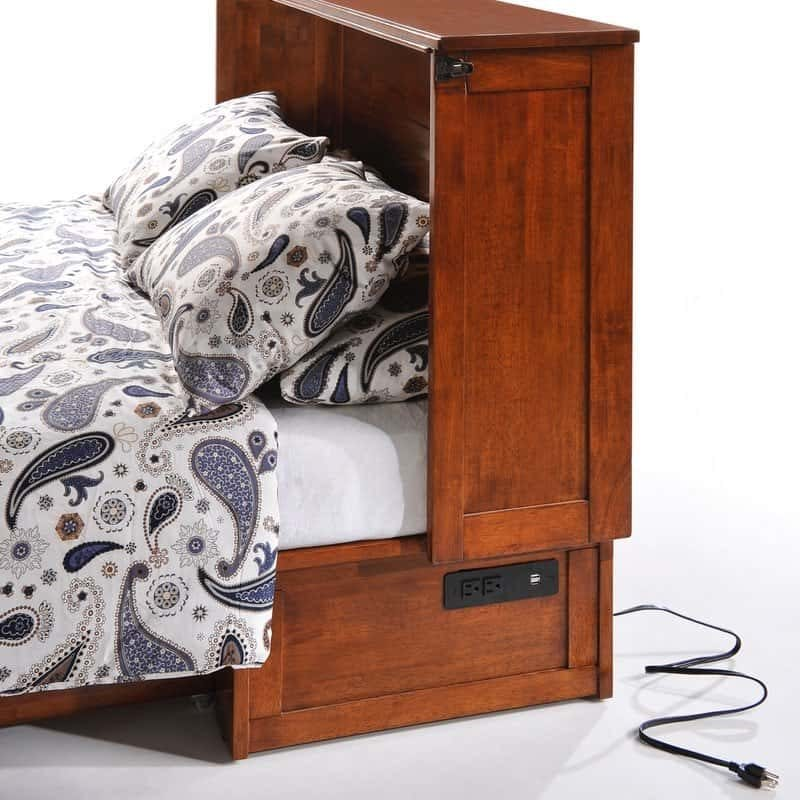 Clover Cabinet Bed Rich Cherry USB power plug