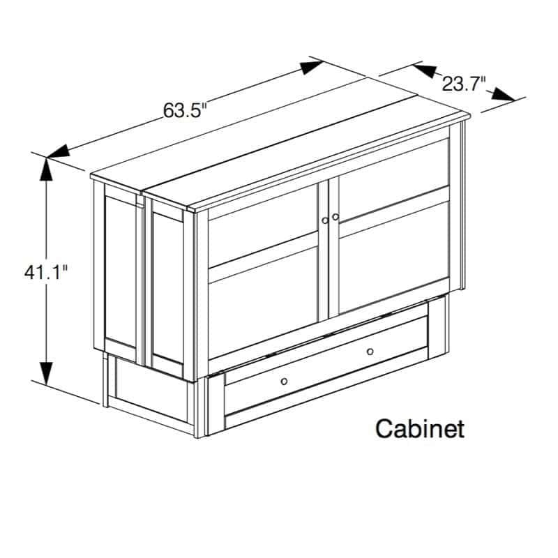 Clover Cabinet Bed design in closed position