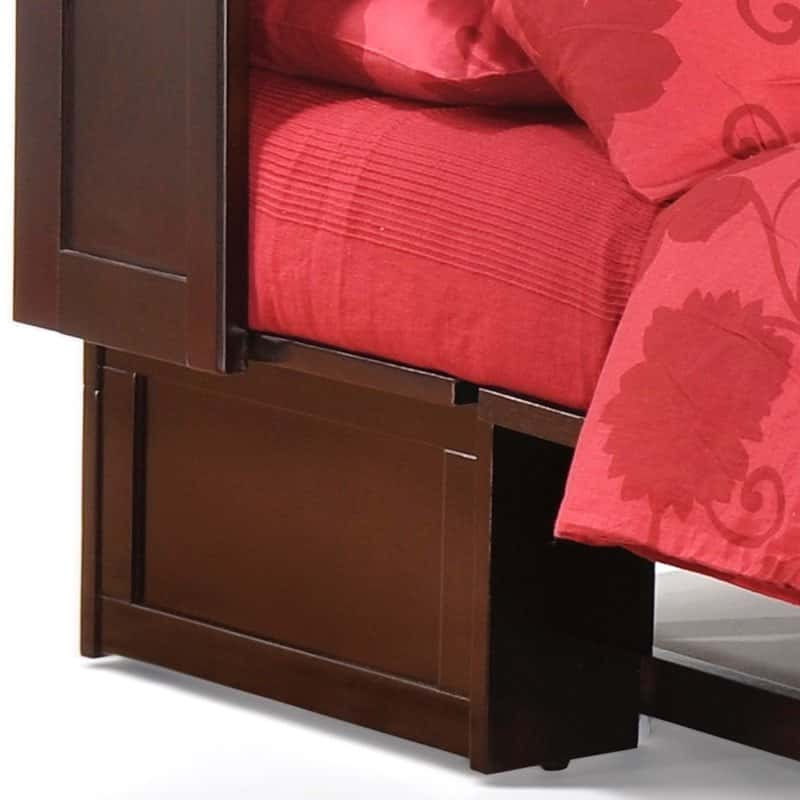 The Clover Cabinet Bed in Dark Chocolate