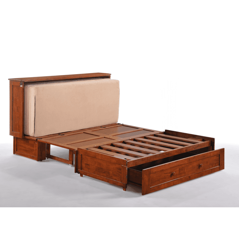 Clover Cabinet Bed Rich Cherry easy fold out bed.
