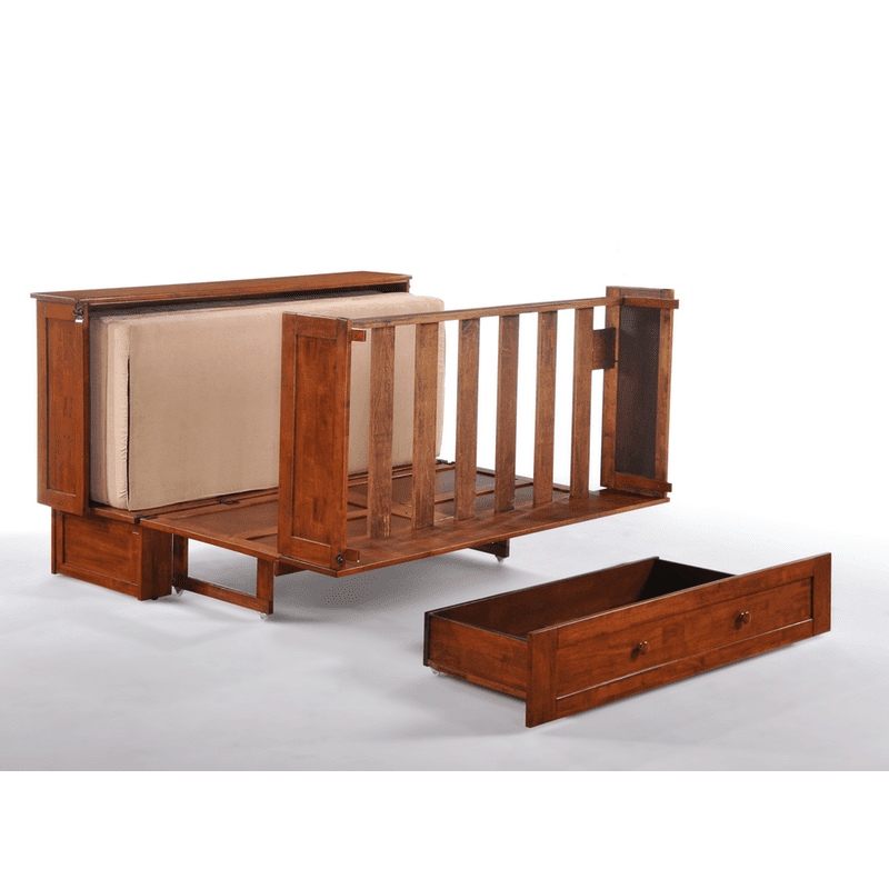 Clover Cabinet Bed Rich Cherry Easy Fold Out Bed