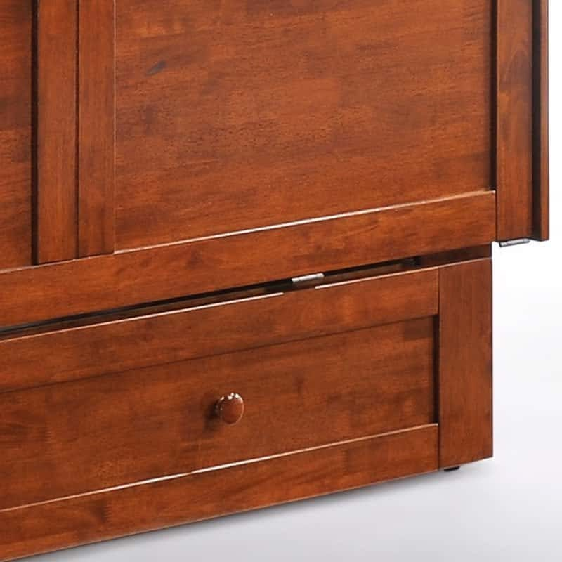 Clover Cabinet Bed Rich Cherry footboard drawer
