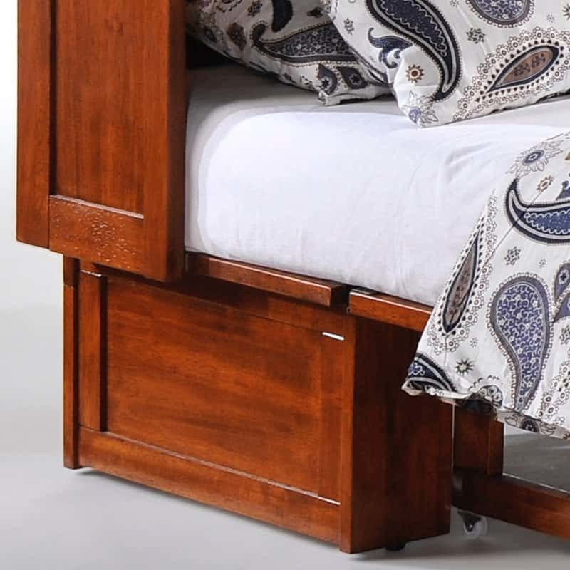 Clover Cabinet Bed in Rich Cherry base