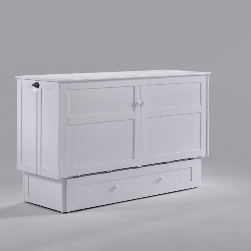Clover Cabinet Bed in white finish