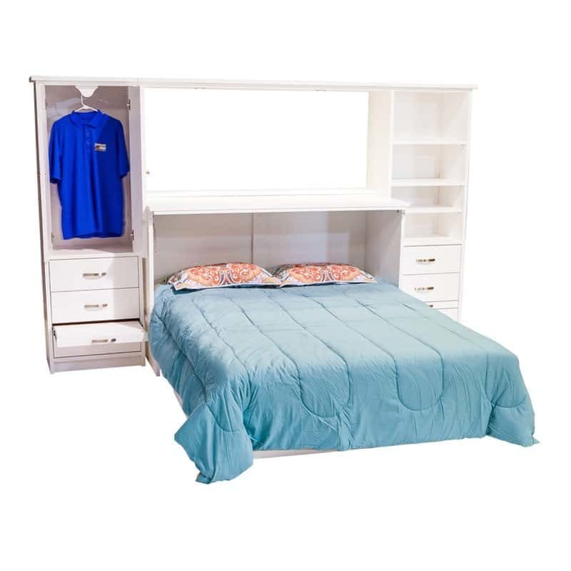 Town and Country Cabinet Bed in White Paint with optional side piers