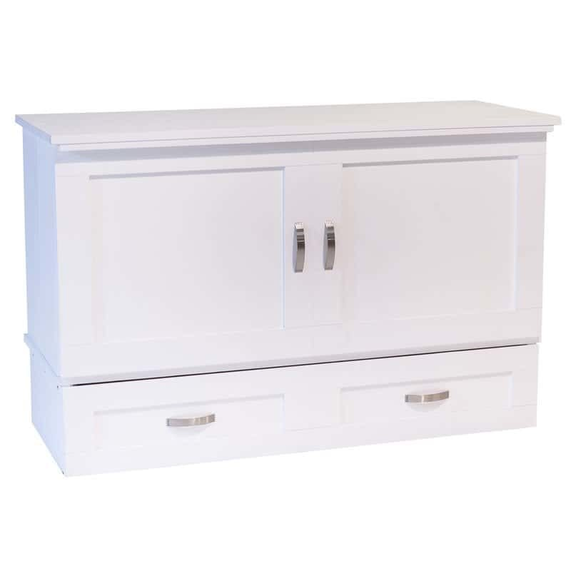 Town and Country Cabinet Bed in White Paint