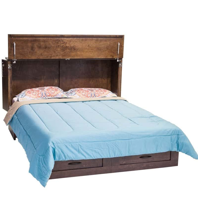 Country Cabinet Bed Espresso