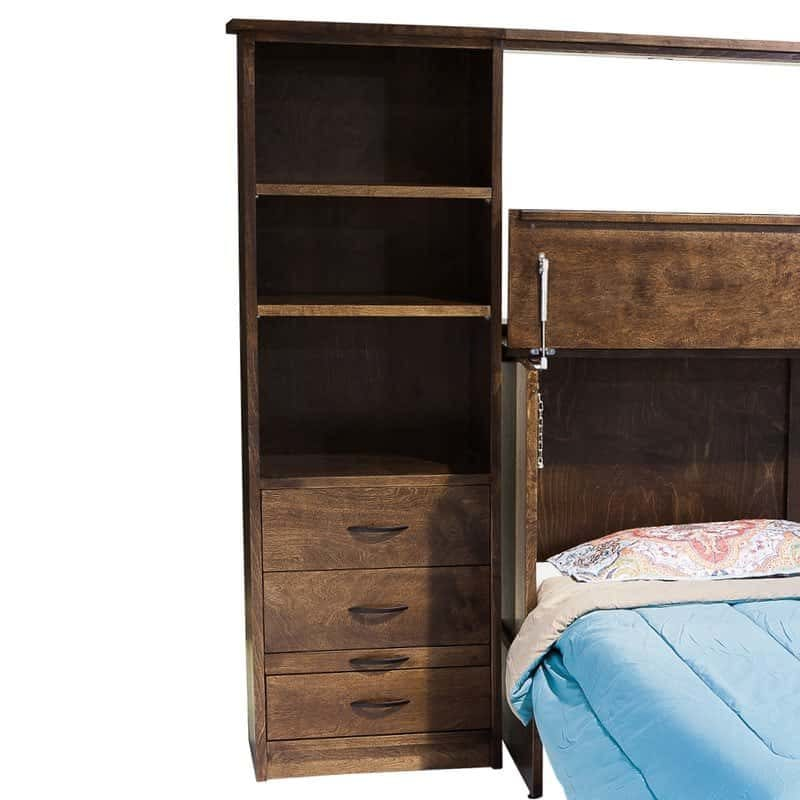 Town and Country Cabinet Bed pier Espresso shelf option.