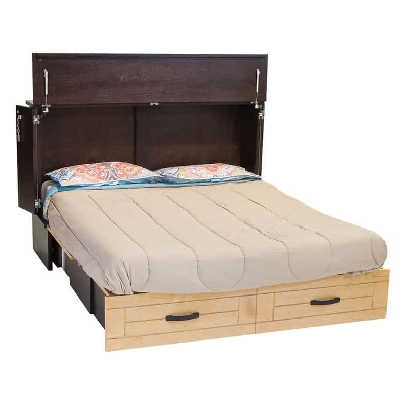 Metro Cabinet Bed Espresso Natural