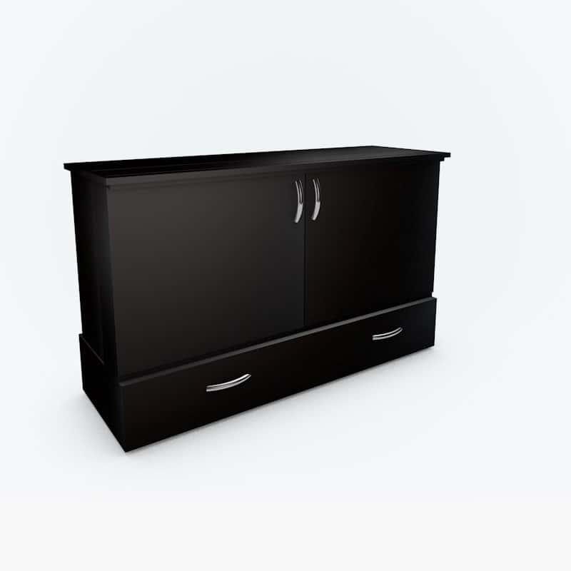 The Park Avenue and Stanley Cabinet Bed in black paint