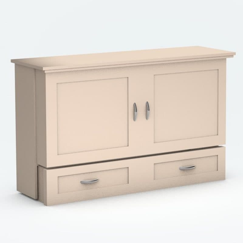Closed Town Country Cabinet Bed antique white paint finish