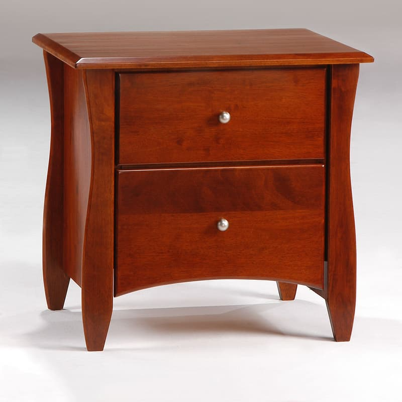 Clove Nightstand in cherry stain finish