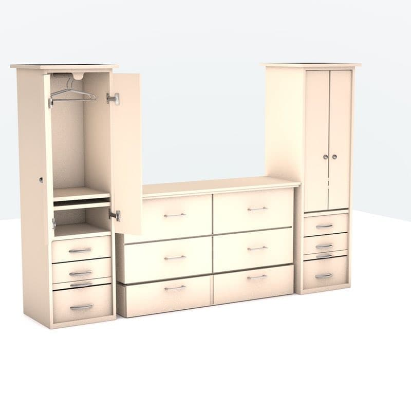 Denva cabinet bed ant white 02 for Ants in kitchen cabinets