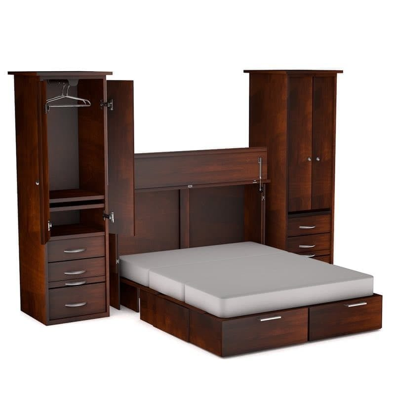 Denva Cabinet Bed Side Piers Cojoba finish