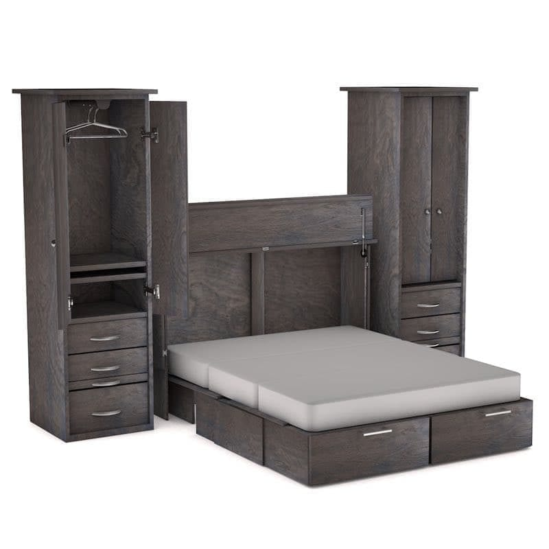 Denva Cabinet Bed Side Piers Grey finish