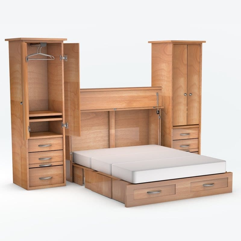 Town Country Cabinet Bed In Natural Finish