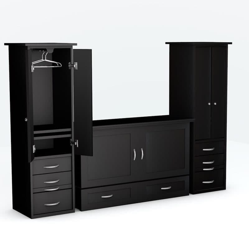 Town Country Cabinet Bed piers Black Paint finish