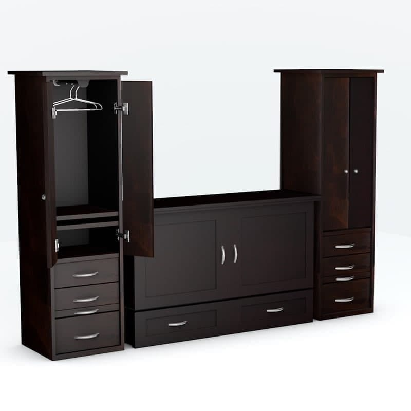Town Country Cabinet Bed piers Espresso finish
