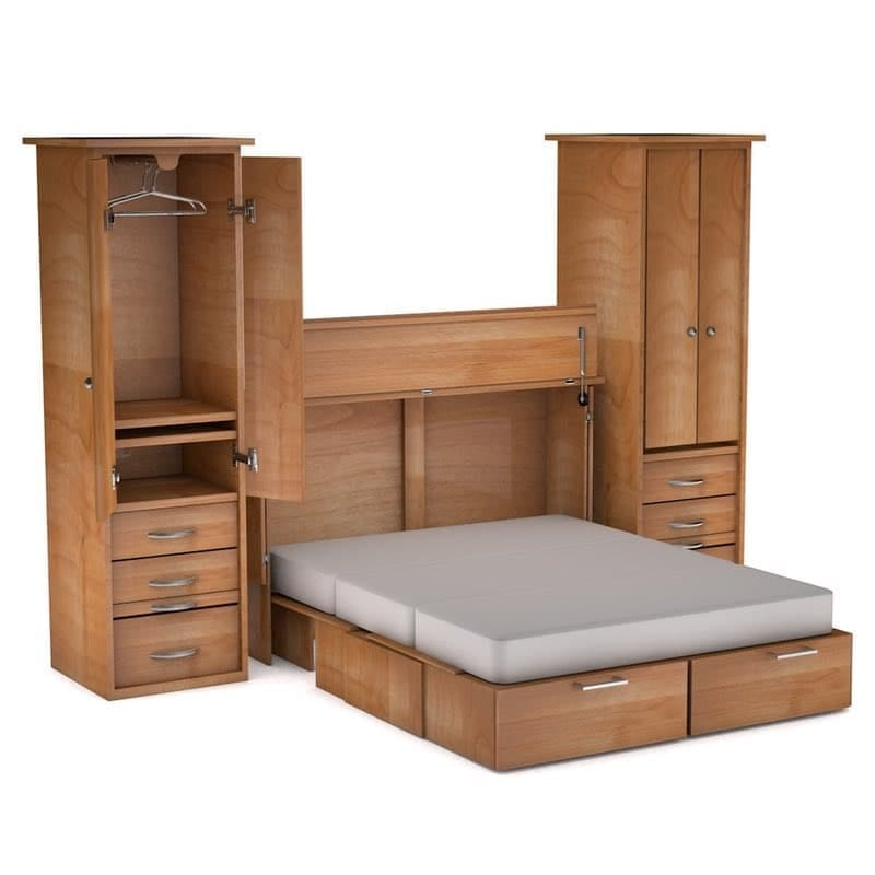 Metro Cabinet Bed Side Piers Natural Finish