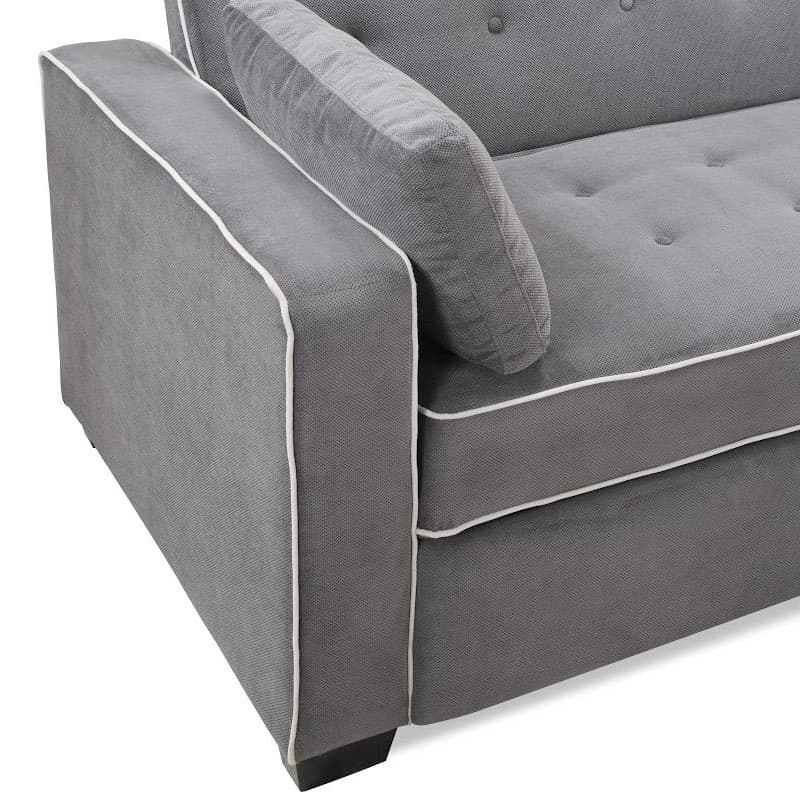 grey serta augustine convertible sofa bed