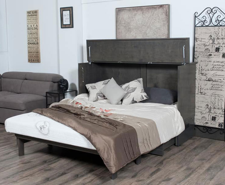 Deluxe Cabinet Bed Grey Stain